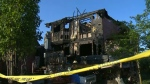 A home in the city's northwest was heavily damaged in an early morning fire.