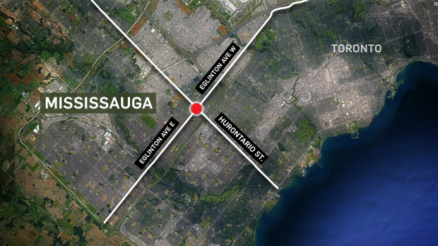 Mississauga explosion (CTV News / Google Maps)