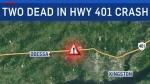 Fatal crash along Hwy 401