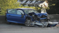 This crash forced a partial closure of B.C.'s Highway 1 in May 2018.