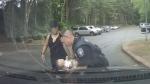 Officer captured saving choking baby