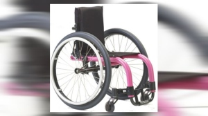 Julia Khaled has been reunited with her wheelchair that was found in a garbage can.