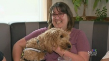 Woman with service dog speaks out
