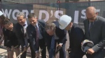 Executives and Premier Brian Pallister break ground on the Inuit Art Centre slated to open in 2020. (Source: CTV Winnipeg)
