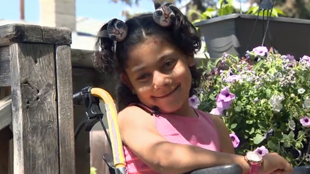 Eight-year-old Julia Khaled is without her wheelchair after a thief stole her family's minivan, and the chair within, Thursday morning