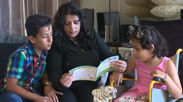 The Khaled family had their minivan and Julia's wheelchair stolen on Thursday May 24