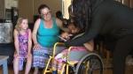 Family seeks return of wheelchair