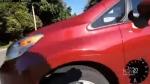 Helmet cam video shows driver-cyclist crash