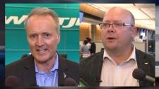 Ed Sims and Captain Rob McFadyen - WestJet
