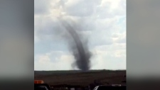 Extended: Saskatchewan tornado caught on video