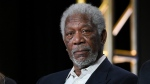 "In this Jan. 6, 2016, file photo, actor Morgan Freeman participates in the ""The Story of God"" panel at the National Geographic Channel 2016 Winter TCA in Pasadena, Calif. (Richard Shotwell/Invision/AP, File)"