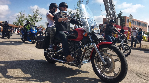 1,490 is the unofficial number of riders taking part in the 10th annual event. (Source: Scott Sinclair/CTV Winnipeg)