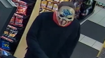 A man wearing a mask robbed a gas station in Tillsonburg Saturday.