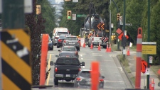 Lane closures with traffic detours and barricades will be in effect along East 1st Avenue from Nanaimo Street to Rupert Street and between the Highway 1 overpass and Boundary Road starting May 26 at 7 p.m.