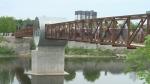 Galt unveils pedestrian bridge