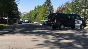 Authorities have blocked off a scene in Mount Royal after it's believed someone dug up an explosive device in their yard.