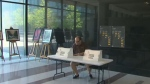 An advance polling station, for people looking to cast ballots in the provincial election, operates in Toronto on Saturday, May 26, 2018.