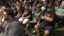 Attendees wore shirts in support of Canada's oil sands at the rally.
