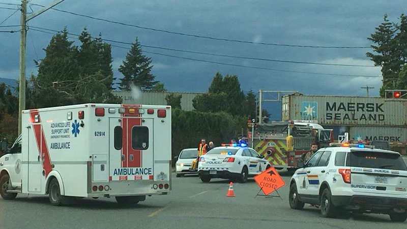 This photo from the scene was posted to a private Chilliwack Facebook group.