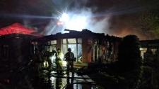 Fire at 1-3 Meridian Place (Credit: Scott Stilborn, Ottawa Fire)