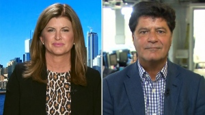 Former Interim Conservative Leader Rona Ambrose and UNIFOR President Jerry Dias on CTV's Question Period on Sunday May 27, 2018. (CTV News)