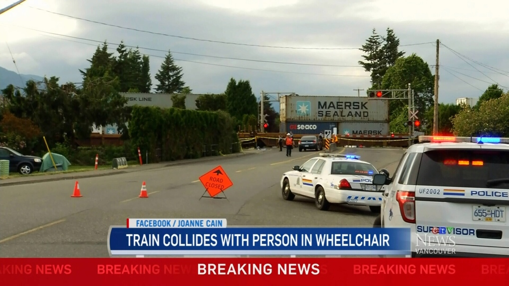 Train collides with person in wheelchair | CTV News