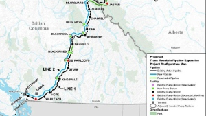 A spokesperson from B.C.'s environment ministry said about 100 litres of crude had spilled from Kinder Morgan's Darfield pump station on May 27, 2018. (Image: Natural Resources Canada)