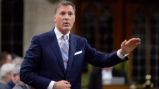 Conservative MP Maxime Bernier rises during question period in the House of Commons on Parliament Hill in Ottawa on Thursday, Sept.28, 2017. (THE CANADIAN PRESS/Adrian Wyld)