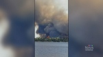 Footage of the fire from Little Grand Rapids First Nation.