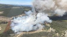 Wildfire near Merritt
