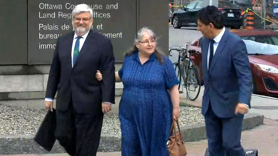 Patrick and Linda Boyle, Joshua Boyle's parents, arrive at an Ottawa courthouse on Monday, May 28, 2018.