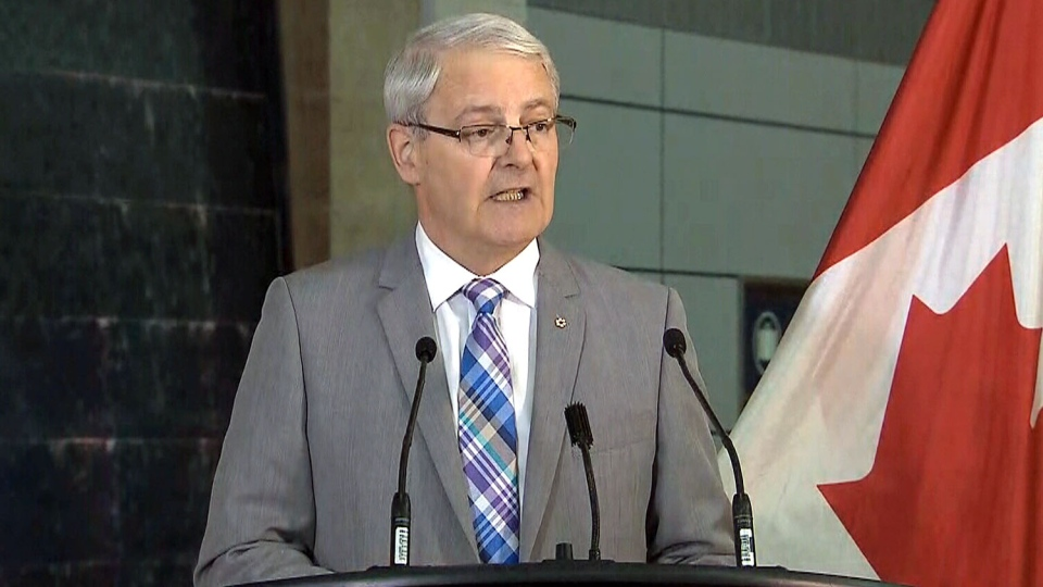 Minister of Transportation Marc Garneau announces the launch of a consultation process for a new air passenger bill of rights on May 28, 2018.