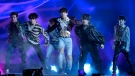 "BTS performs ""Fake Love"" at the Billboard Music Awards at the MGM Grand Garden Arena on Sunday, May 20, 2018, in Las Vegas. (Photo by Chris Pizzello/Invision/AP)"