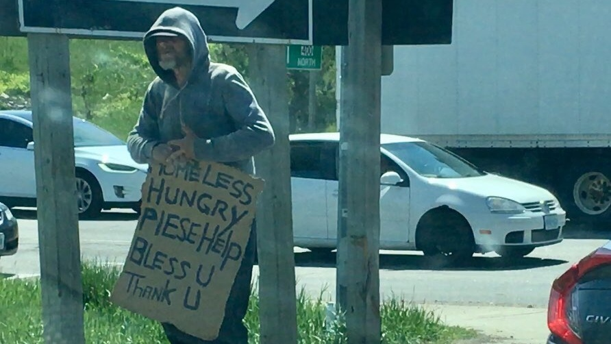 Barrie panhandling