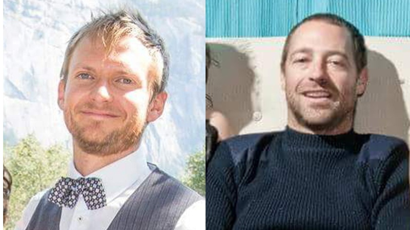 Dan Archbald, left, and Ryan Daley, right, were last seen leaving Ucluelet Small Craft Harbour on May 16, according to RCMP. They haven't been seen or heard from since.  (RCMP Handout)