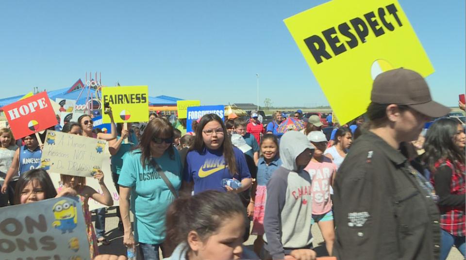 First Nations hold drug awareness walk