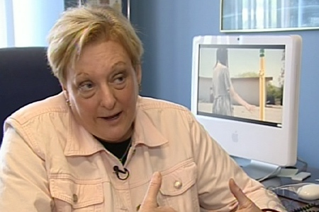 Ruth Rosenfield is with the Montreal Teacher's Association. She isn't so sure about the Dali-like video. (June 11, 2009)