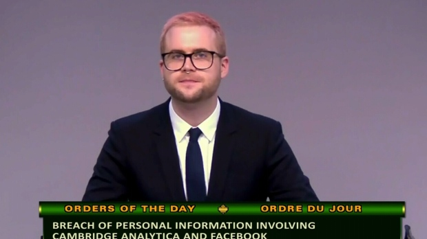Cambridge Analytica whistleblower testifies at the House Access to Information, Privacy, and Ethics.