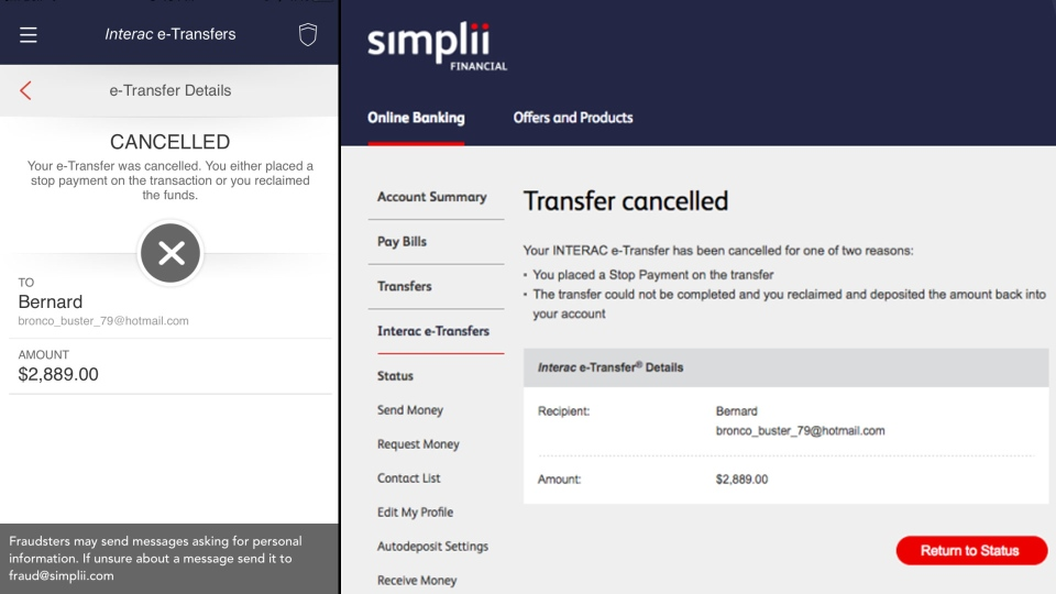 Jennifer Gaudet is one of an estimated 40,000 Simplii clients whose bank account information may have been compromised in an alleged data breach.