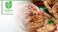 Rhubarb Apple Loaf with Brown Sugar-Cinnamon Topp