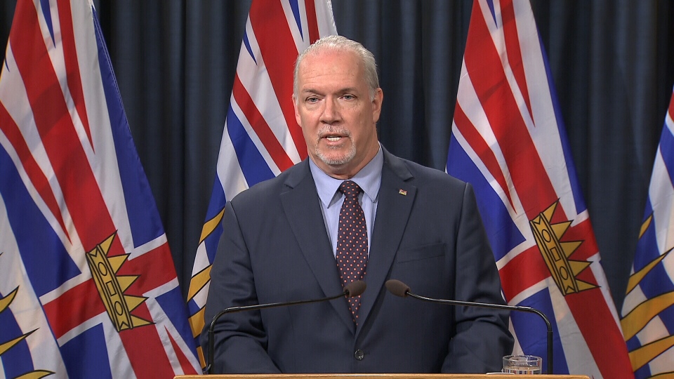 B.C. Premier John Horgan reacts to the federal government's decision to spend billions purchasing the Trans Mountain pipeline. May 29, 2018.