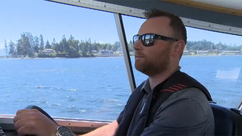 Angler Ryan Chamberland says he fears his current fishing area will be reduced by up to 60 to 70 per cent when the federal government enacts a new orca conservation plan. May 29, 2018. (CTV Vancouver Island)