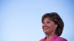 Former B.C. premier Christy Clark speaks to media for the first time since announcing she will be stepping down as B.C. Liberal leader and MLA in Vancouver, B.C., on Monday July 31, 2017. THE CANADIAN PRESS/Ben Nelms