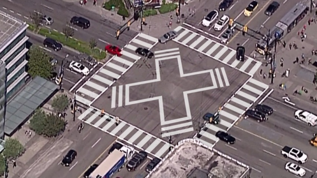 Scramble crosswalk