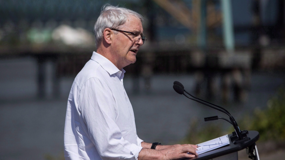 The NDP wants transport minister Marc Garneau, pictured in this May 16, 2018, photo, to spell out plan to replace Greyhound service. (THE CANADIAN PRESS/Ben Nelms)