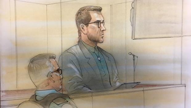 Dellen Millard appears in court