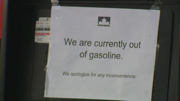 Petro Canada gas out