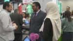 Companies, government organizations and schools were out trying to recruit newcomers to Quebec at an Immigration Job Fair on Thur., May 31, 2018.