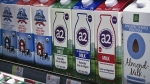 A2 milk is displayed on the shelf at The Fresh Market in Latham, N.Y. on Friday, May 18, 2018. (AP Photo/Michael Hill)
