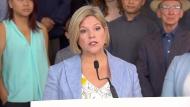 Ontario NDP Leader Andrea Horwath speaks to reporters on June 1, 2018.